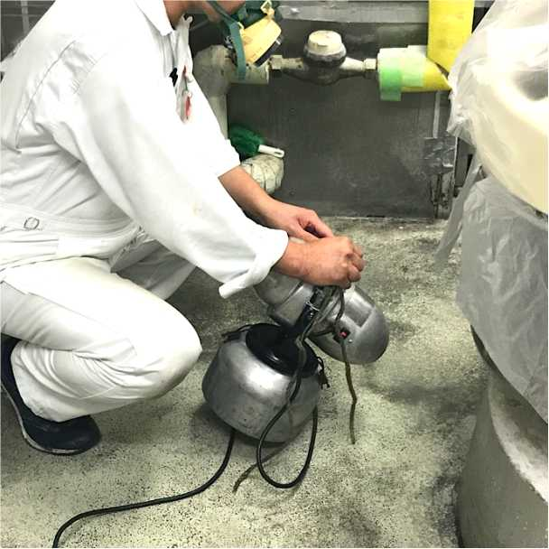 ULV機による水性乳剤の空間噴霧処理