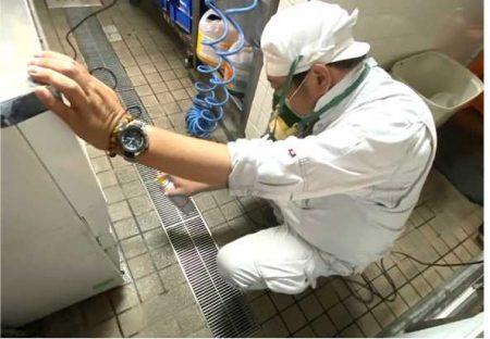業務用エアゾール剤による噴霧処理施工
