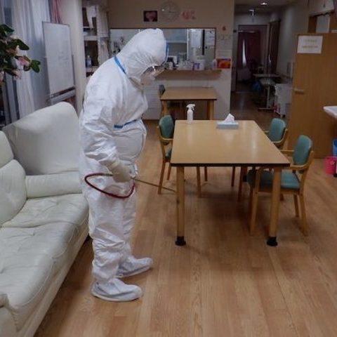 某デイケアサービス緊急臨時殺菌消毒施工サムネイル